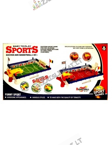 """Stalo žaidimas """"Futbolas su krepšiniu"""""""