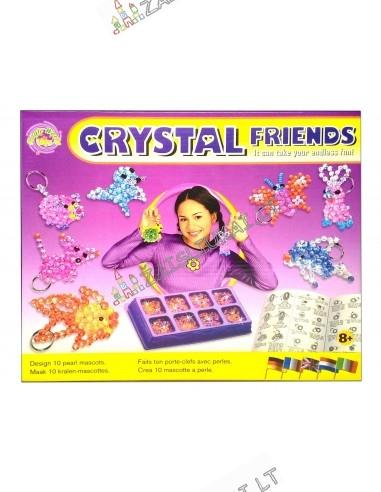 """Kūrybinis rinkinys - Raktų pakabukai """"Crystal Friends"""""""