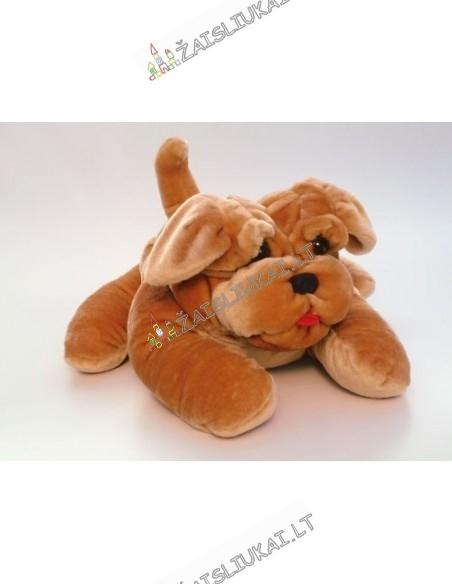 Minkštas žaislas - gulintis šuo šarpejus