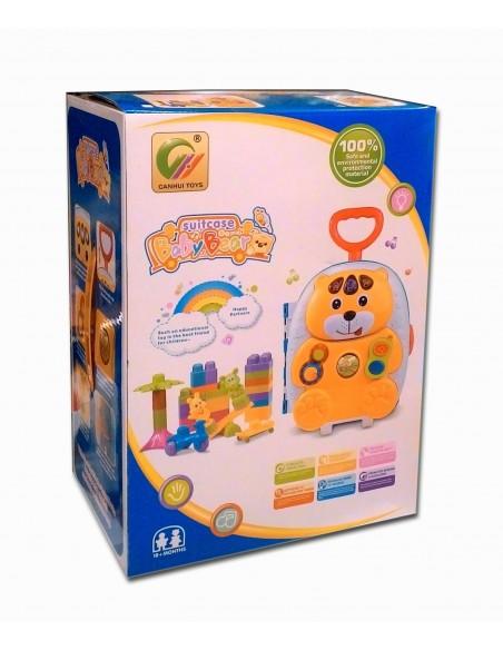 Muzikinis vaikiškas lagaminas su ratukais