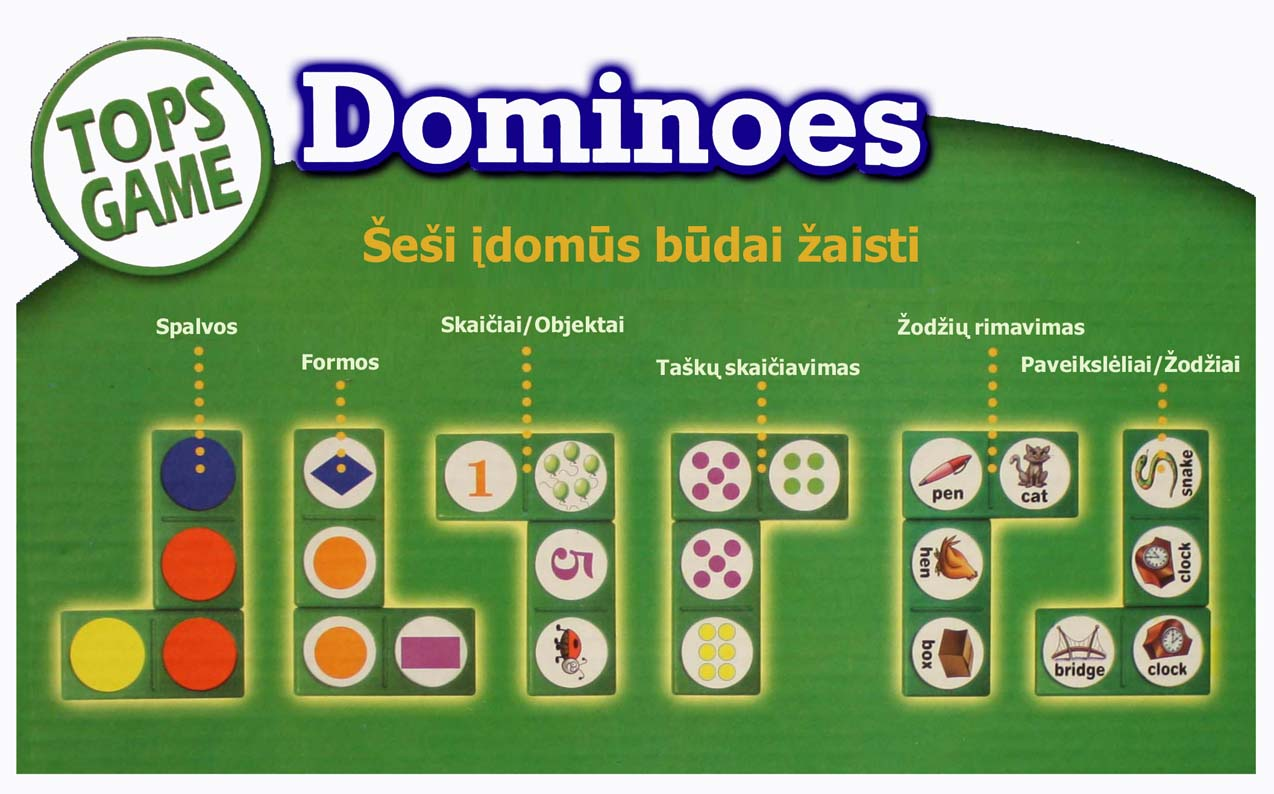 Domino - šeši įdomūs būdai žaisti