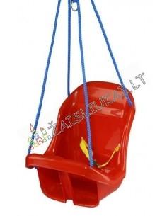 Vaikiškos saugios sūpynės-kėdutė su skersine ir diržiuku