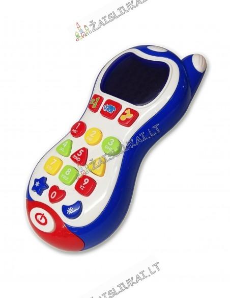 Telefonas su šviečiančiu ekraniuku