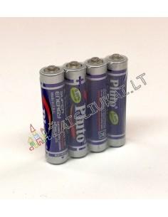 Maitinimo elementai PLUTO Super Energy R03 1,5V AAA komplektas 4 vnt.