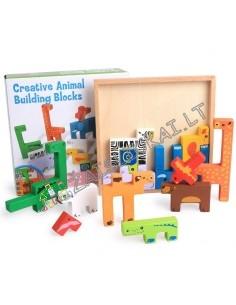 """""""Tetris"""" - Dėlione medinės kaladėlės"""
