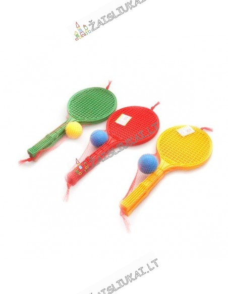 Lauko teniso raketės su kamuoliu