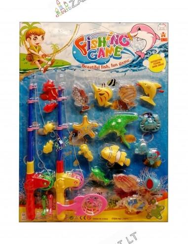 """Žaidimas """"Žvejyba"""" su magnetinėmis žuvytėmis"""