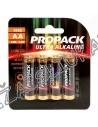 Maitinimo elementai PROPACK ULTRA ALKALINE  LR6 1,5V AA komplektas 4 vnt.