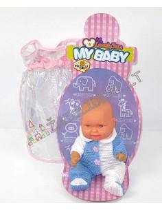 Plastikinis kūdikis su rūbais
