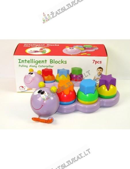 Tampomas žaislas vikšras su forminėmis figūromis