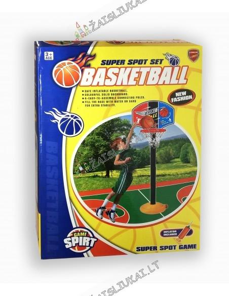 Pastatomas krepšinio lankas su stovu 115 cm