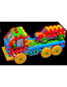 Vaflinės kaladėlės - Vilkikas su mašina