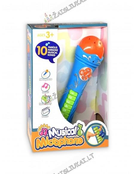Mikrofonas-Karaoke su funkcijomis