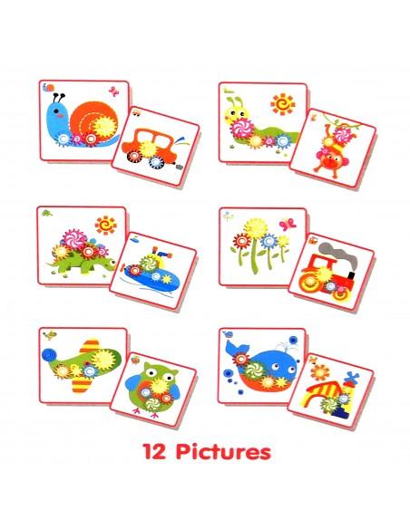 Mozaika mažyliams su dantračiais