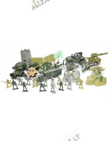 Plastikiniai kareivėliai ir karinė technika