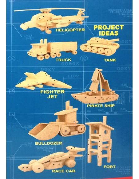 Konstruktorius su darbo įrankiais