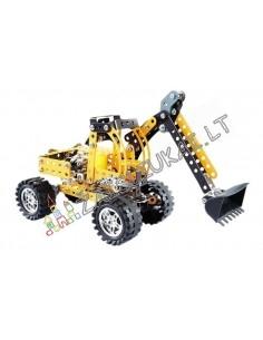 Metalinis konstruktorius traktorius ekskavatorius