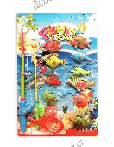"""Žaidimas """"Žvejyba"""" su magnetu ir kabliuku"""