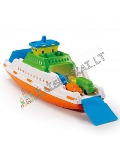 Vandens žaislas - Plaukiojantis keltas - laivas su mašinomis