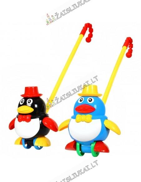 Stumdomas žaislas su pagaliu Pingvinas