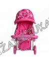 Vaikiškas metalinis vežimėlis lėlėms iki 40 cm