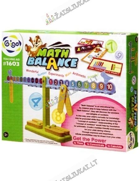 """Svarstyklės """"Math Balance"""" darželinukams, pirmokams, antrokams"""