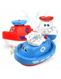 Žaislas į vonia - Laivas su fontanu
