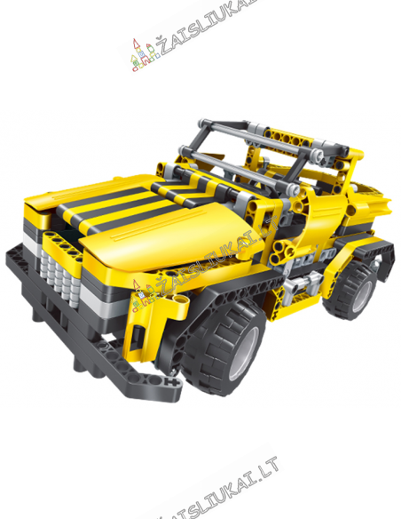 Radio bangomis valdomas, lenktinių mašinų konstruktorius suderinamas su Lego Technics