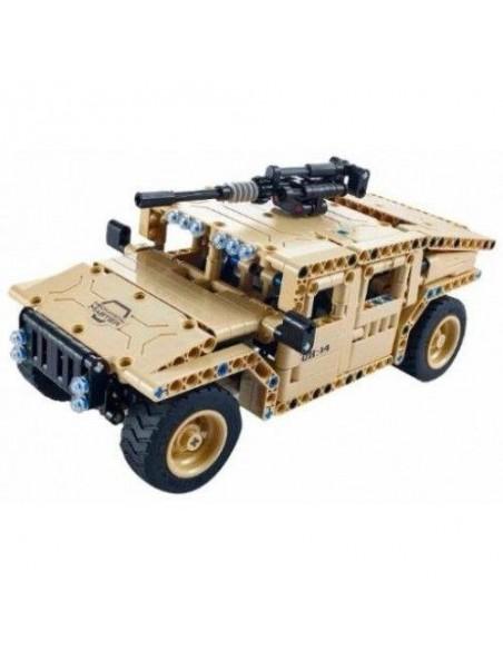 Radio bangomis valdomas konstruktorius karinis džipas, suderinamas su Lego Technics