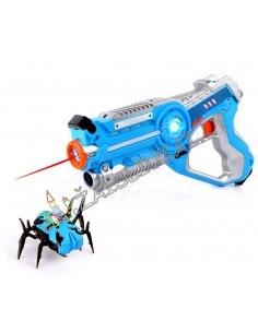 Lazerinis ginklas su judančiu taikiniu