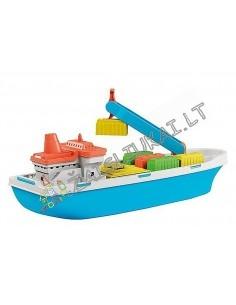Vandens žaislas - Plaukiojantis krovininis laivas su konteineriais