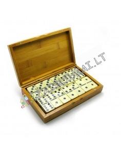Klasikinis DOMINO žaidimas bambukinėje dėžutėje