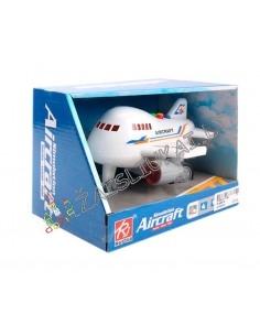 Tvirtas keleivinis lėktuvas su garsais