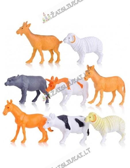 8 plastikinių gyvūnų figūrų rinkinys