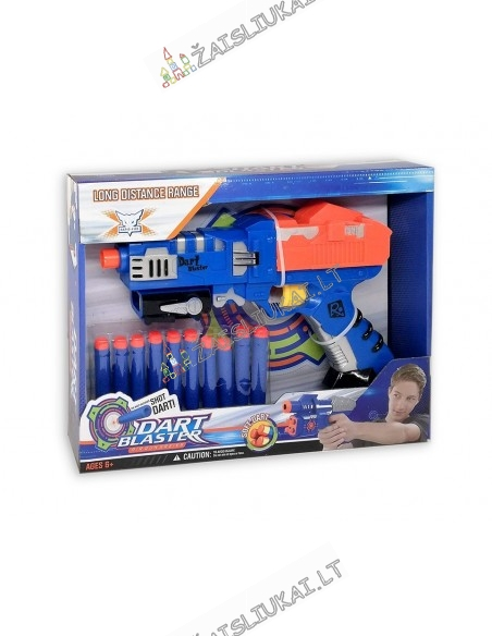 Žaislinis pistoletas su minkštom kulkom