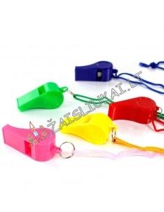 Plastikinis švilpukas su virve