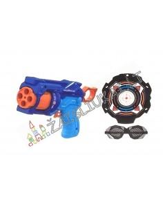 Šaudantis minkštom kulkom žaislinis šautuvas su taikiniu