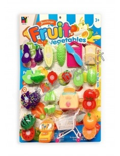Pjaustomų vaisių ir daržovių rinkinys iš 9 dalių