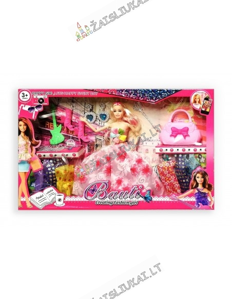 Lėlė su rūbais lankstosi rankos Barbies tipo
