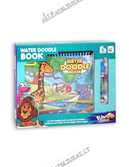 Spalvinimo knyga su vandeniniu rašikliu Safari