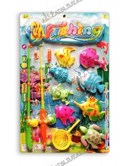 """Žaidimas """"Žvejyba"""" su 2 meškerėm ir 8 magnetinėmis žuvelėmis"""