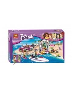 """LEGO Konstruktorius Bela Lari Friend """"Mašina su greitu kateriu"""" 314 dalių"""