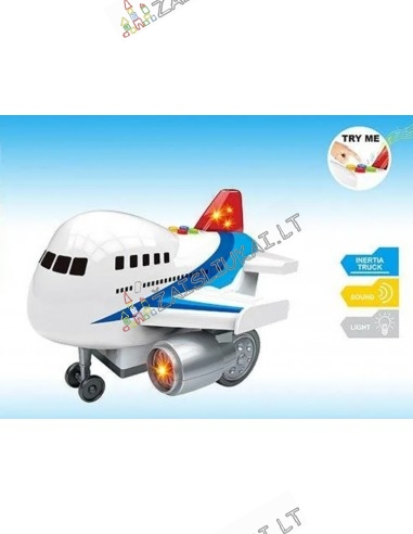 Tvirtas 21 cm keleivinis lėktuvas su MALONIAIS lėktuvo garsais