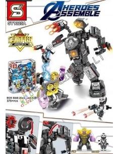 """375 dalių Lego analogo konstruktorius SY Heroes Assemble """"Karinis kostiumas super herojaus"""""""