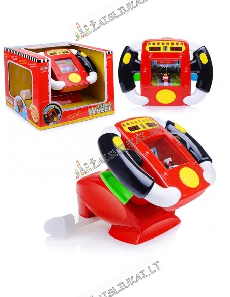 Vairavimo simuliatorius - vaikiškas vairas su garsais