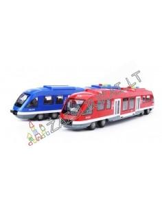 Plastikinis traukinys-metro su garsais ir šviesa