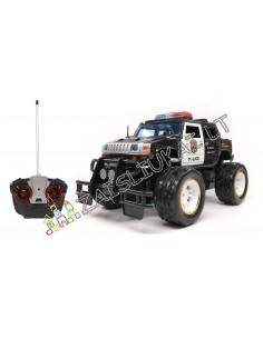 Radijo bangomis valdomas policijos visureigis  Drones Mini Control Monster Truck