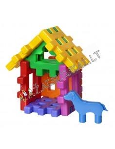Vaflinių kaladėlių rinkinys - namelis su gyvūnu