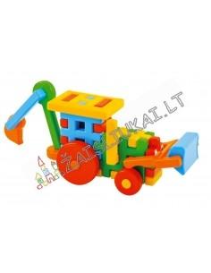 Vaflinės kaladėlės - Traktorius su kaušu