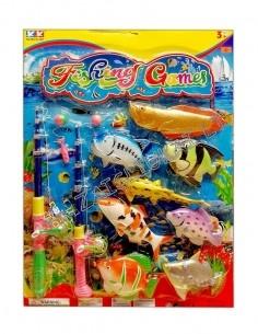 """Žaidimas """"Žvejyba"""" su stambiomis magnetinėmis žuvelėmis, 2 meškerės"""